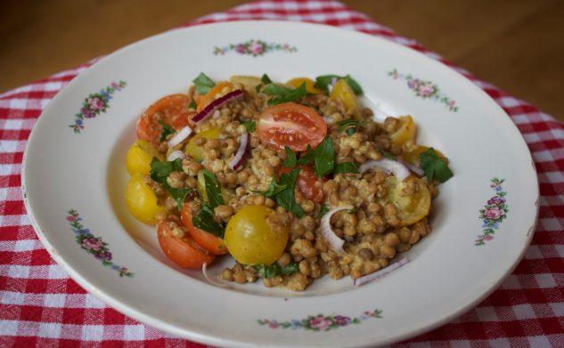 Linzen mosterd salade [studentenhap METRO]